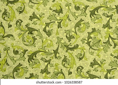 Vintage background - Floral Pattern from 18th Century