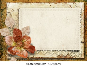 Vintage Background With Gorgeous Flower
