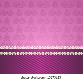 Vintage background with lace ornaments
