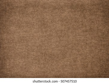 Vintage background made of brown cotton