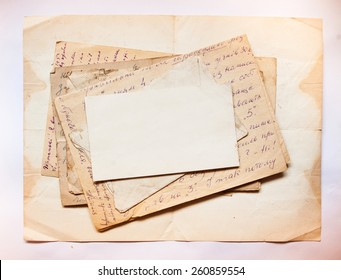 Vintage background with old papers and letters