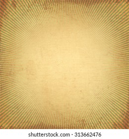 Vintage background old rising sun or sun ray,sun burst retro paper be crumpled