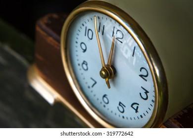 Vintage background with retro alarm clock