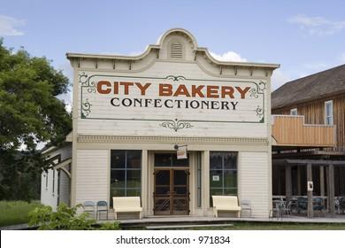 vintage bakery - on a sunny day