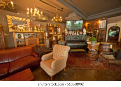 vintage bar, bar is blur.