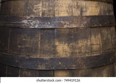 Vintage barrel close up texture