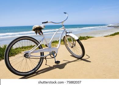 Vintage Beach Cruiser Bike along the California Coast