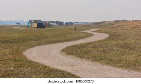 The vintage beach huts at Skanor Falsterbo, Skane Sweden in spring time