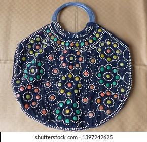 Vintage beaded embroidered woman bag