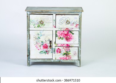 Vintage bedside table in the style of Provence