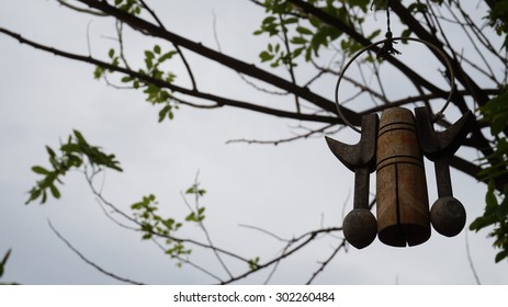 Vintage Bell With Tree