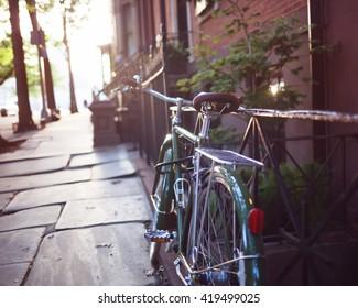 Vintage Bicycle in Brooklyn Heights