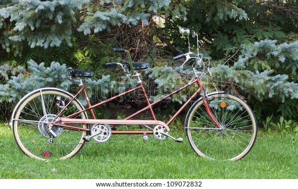 vintage bicycle built for two for fun and recreation