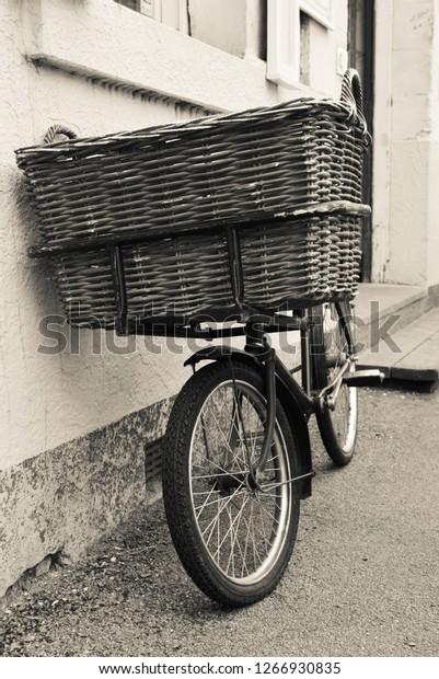 Vintage bicycle in B&W.