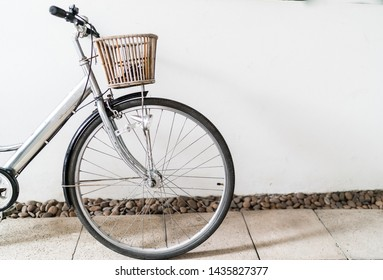 Vintage bicycle with copy space, ecological transportation concept.