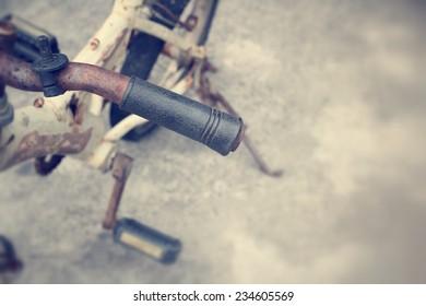 vintage bicycle handlebar.