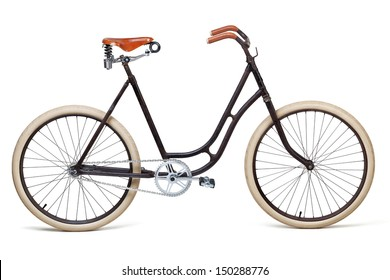 Vintage bicycle isolated on white. Including clipping path