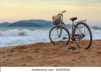 A Vintage Bicycle on the Beach