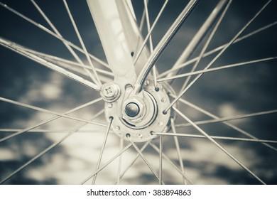 Vintage bicycle whee