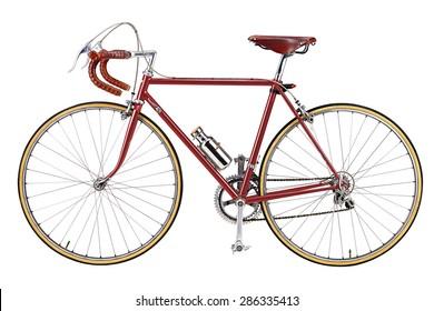 vintage bikes red