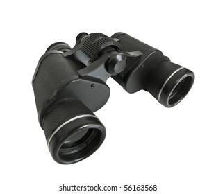 Vintage binoculars.  Survivor of many boyhood adventures.