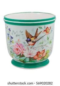 Vintage Bird Flowers Oriental Ornament Cup Nineteenth Century