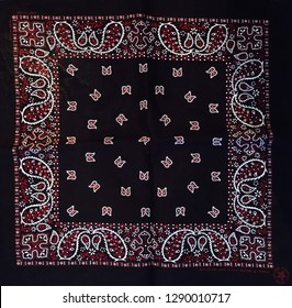 Vintage black, red and white bandana