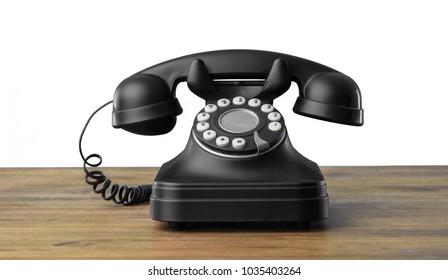 Vintage black telephone