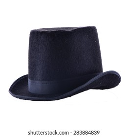 Vintage Black Top Hat Isolated