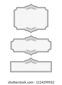 Vintage Black and white Pantry LABEL BLANKS - customizable collection with rough texture and watercolor paper backdrop. Isolated on white. Place for text