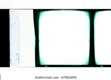 Vintage blank medium format color film frame