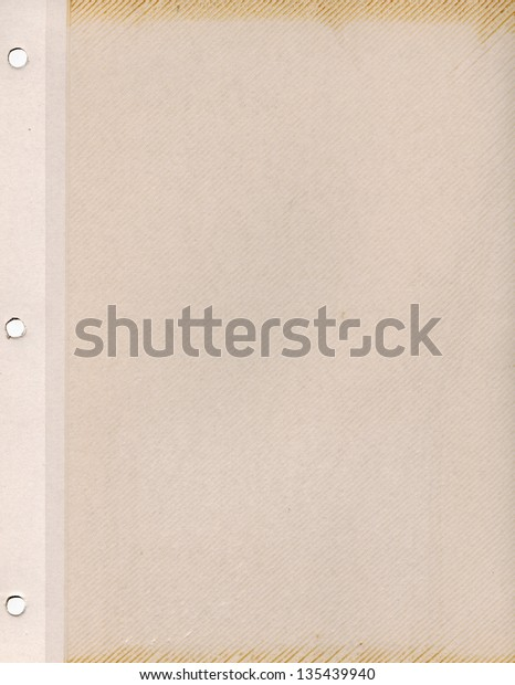 Vintage Blank Page Old Photograph Album Stock Photo Edit