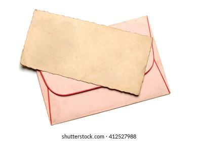 Vintage blank paper for letter with envelope