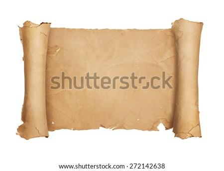 Vintage blank paper scroll