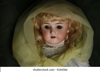 vintage blond girl doll