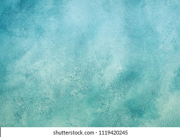 Vintage blue and green marble or concrete background (as an abstract fantastic background or marble or concrete texture)