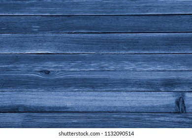 Vintage blue wooden texture background. Front view with empty space.