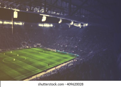 vintage blurred football stadium