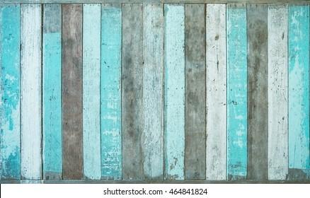 Vintage board, blue colored wood background