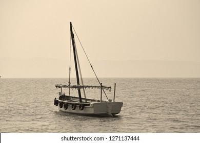 Vintage boat high resolution image