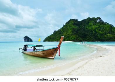 Vintage boat in wonderful islands