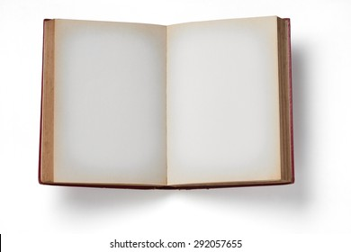 Vintage Book on white background.
