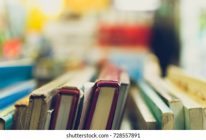 Vintage Books Background, Shallow Depth of Field Split Toning
