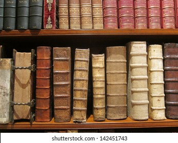 Vintage books with leather covers
