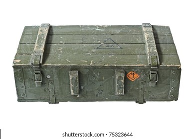 Vintage Box of ammunition. With Clipping Path