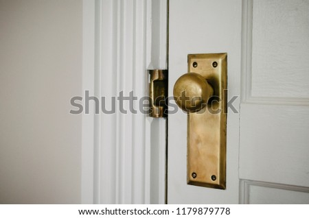 Vintage Brass Door Hardware Stock Photo Edit Now 1179879778