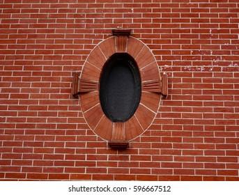 Vintage Brick Oval Window