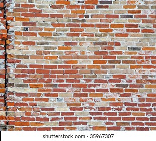 Vintage brick wall with deep texture