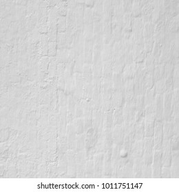 Vintage Brick Wall With White Plaster Square Texture Or Background. Whitewashed Wall In The Room Interior. Painted White Wall Surface. Whitewashed  Wall Rustic Square Background  Or Frame Texture