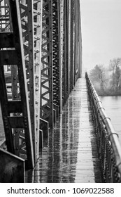 Vintage Bridge Span in Black and White